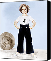 T-shirt Canvas Prints - Shirley Temple, Studio Portrait, Ca Canvas Print by Everett