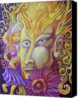 Egg Tempera Canvas Prints - Shiva Canvas Print by Evelyn Cammarano
