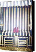 Shoe Canvas Prints - Shoes In A Beach Chair Canvas Print by Joana Kruse