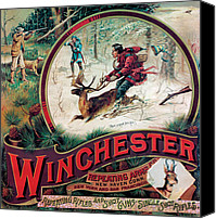 Winchester Canvas Prints - Shoot Or Youll Lose Him Canvas Print by Fredrick Remington