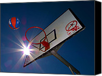 Basketball Canvas Prints - Shootin Hoops Canvas Print by Tim Nichols