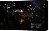 Pyrotechnics Canvas Prints - Shooting Canvas Print by Agusti Pardo Rossello