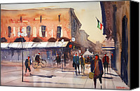 Ryan Radke Canvas Prints - Shopping in Italy Canvas Print by Ryan Radke