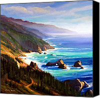 Northern California Canvas Prints - Shore Trail Canvas Print by Frank Wilson