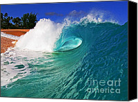 Surf Art Canvas Prints - Shorebreaker Canvas Print by Paul Topp