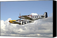 P51 Mustang Canvas Prints - Show Time Canvas Print by Pat Speirs