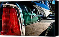 California Hot Rod Canvas Prints - ShowLow and Tribe in the Mirror Canvas Print by Michael Kerckaert