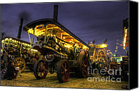 Blandford Canvas Prints - Showmans Engine by Night  Canvas Print by Rob Hawkins