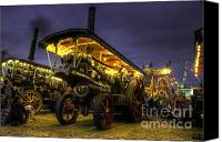 Blandford Canvas Prints - Showmans Engines at night Canvas Print by Rob Hawkins