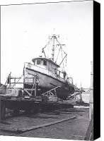 Galveston Canvas Prints - Shrimp Boat Driftwood  Canvas Print by Fred Jinkins