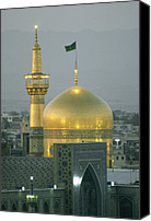 Religious Structures Canvas Prints - Shrine Of Imam Reza,  Eighth Shiite Canvas Print by Martin Gray