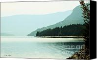 Canada Photographers Prints Canvas Prints - Shuswap Lake in Beautiful British Columbia Canvas Print by Jayne Logan