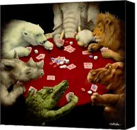 Gambling Canvas Prints - Shut up and deal... Canvas Print by Will Bullas