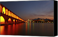 Arch Bridge Canvas Prints - Si-o-seh Bridge Canvas Print by Kelly Cheng Travel Photography