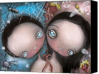 Brother Canvas Prints - Siamese Twins Canvas Print by  Abril Andrade Griffith