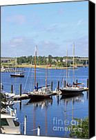 Boats Canvas Prints - Side by Side III Canvas Print by Suzanne Gaff