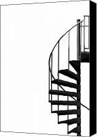 Staircase Canvas Prints - Side Entrance Canvas Print by Evelina Kremsdorf