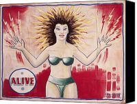 Bikini Canvas Prints - SIDESHOW POSTER, c1965 Canvas Print by Granger