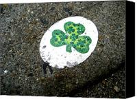 Sheryl Burns Canvas Prints - Sidewalk Shamrock Canvas Print by Sheryl Burns