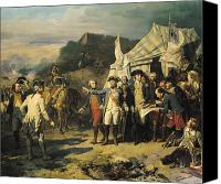 Flags Canvas Prints - Siege of Yorktown Canvas Print by Louis Charles Auguste  Couder