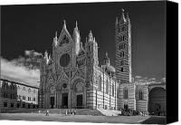 Fineartam Canvas Prints - Siena Duomo Canvas Print by Michael Avory