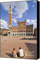 Human Being Canvas Prints - Siena Italy - Piazza del Campo with Palazzo Pubblico Canvas Print by Matthias Hauser