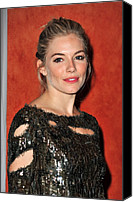Roundabout Canvas Prints - Sienna Miller Wearing A Balmain Dress Canvas Print by Everett