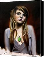 Singer Painting Canvas Prints - Sierra Klusterbeck Canvas Print by Matt Truiano