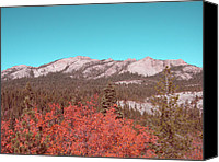 Sierra Canvas Prints - Sierra Nevada Mountain Canvas Print by Irina  March