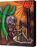 Dia De Los Muertos Canvas Prints - Siesta  Canvas Print by  Abril Andrade Griffith
