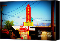 Got Canvas Prints - Siesta Motel on Route 66  Canvas Print by Susanne Van Hulst