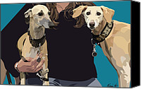 Whippet Canvas Prints - Sighthounds Canvas Print by Kris Hackleman
