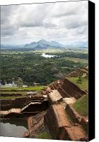 Ruins Canvas Prints - Sigiriya ruins Canvas Print by Jane Rix
