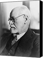 Viennese Canvas Prints - Sigmund Freud 1856-1939, In The 1930s Canvas Print by Everett
