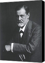 Viennese Canvas Prints - Sigmund Freud 1856-1939, With Arms Canvas Print by Everett