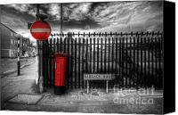 Selective Color Canvas Prints - Sign Sealed Delivered Canvas Print by Yhun Suarez
