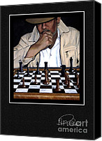 Game Piece Painting Canvas Prints - Signature Collection Fine Art Card - YOUR MOVE Canvas Print by Andrew Wells