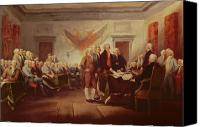 Discussion Canvas Prints - Signing the Declaration of Independence Canvas Print by John Trumbull