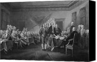 Declaration Of Independence Canvas Prints - Signing The Declaration of Independence Canvas Print by War Is Hell Store
