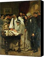 Onlookers Canvas Prints - Signing the Marriage Register Canvas Print by James Charles