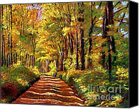 Impressionism Canvas Prints - Silence is Golden Canvas Print by David Lloyd Glover