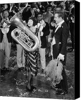 Tuba Canvas Prints - Silent Film Still: Music Canvas Print by Granger