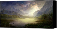 Philip Straub Canvas Prints - Silent Morning Canvas Print by Philip Straub