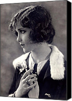 Female Movie Star Canvas Prints - Silent Movie Star Canvas Print by Stefan Kuhn