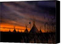 Sky Canvas Prints - Silent Teepees Canvas Print by Paul Sachtleben