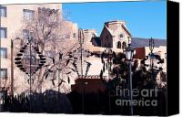 Wind Chimes Canvas Prints - Silhouette in Santa Fe Canvas Print by Bob and Nancy Kendrick