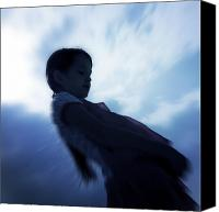 Angelic Canvas Prints - Silhouette Of A Girl Against The Sky Canvas Print by Joana Kruse