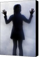 Hands Canvas Prints - Silhouette Of A Girl Canvas Print by Joana Kruse