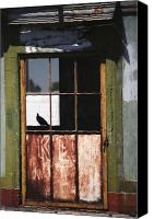 Rusty Door Canvas Prints - Silhouette of Safety Canvas Print by Peter Piatt