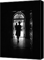 First Ladies Canvas Prints - Silhouette Portrait Of Jacqueline Canvas Print by Everett